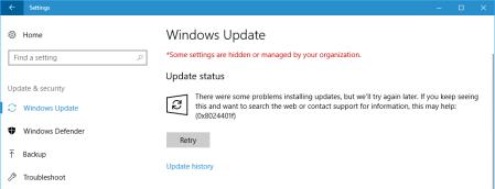 Windows update 8024401f Windows 10 - Windows update 8024401f - Windows 10