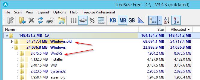 Folder Analysis - Windows Server 2012