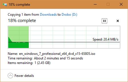 Drobo on USB 2