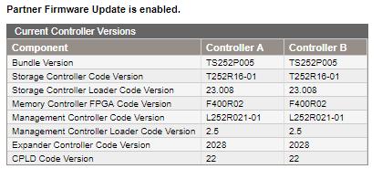 SAN firmware synced up - SAN firmware synced up