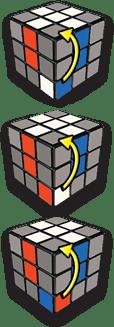 Rubiks Cube Step 2 position - Rubiks Cube - Step 2 - position