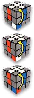 Rubiks Cube Step 2 position - 5-Step to Solve A 3x3 Rubik's Cube