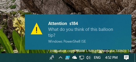 4 Types of Notifications Generated in PowerShell | KC's Blog