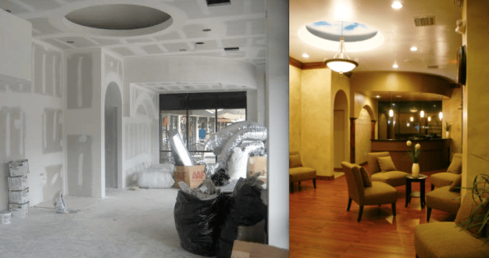 Before & After Spa Interior design