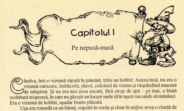 Capitolul 1 - Povestea unui hobbit, Editura Elit, 1995