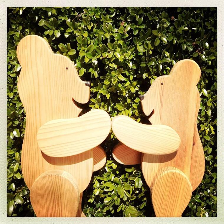 urși de lemn
