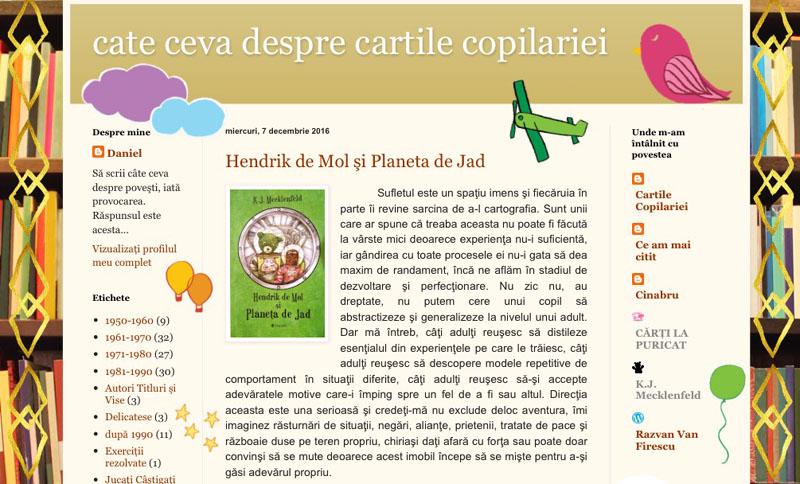 Recenzie Hendrik de Mol și Planeta de Jad