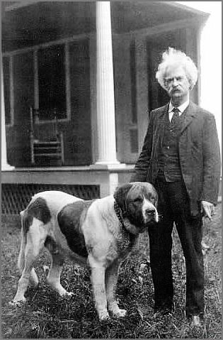 Mark Twain și câine