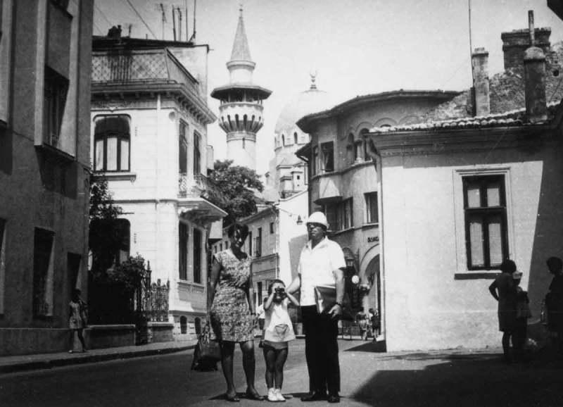 Cu mama și bunicul în Constanța