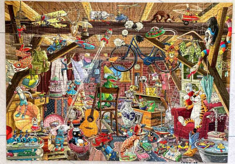 In the attic - Tanck - Heye puzzle - 1000 piese