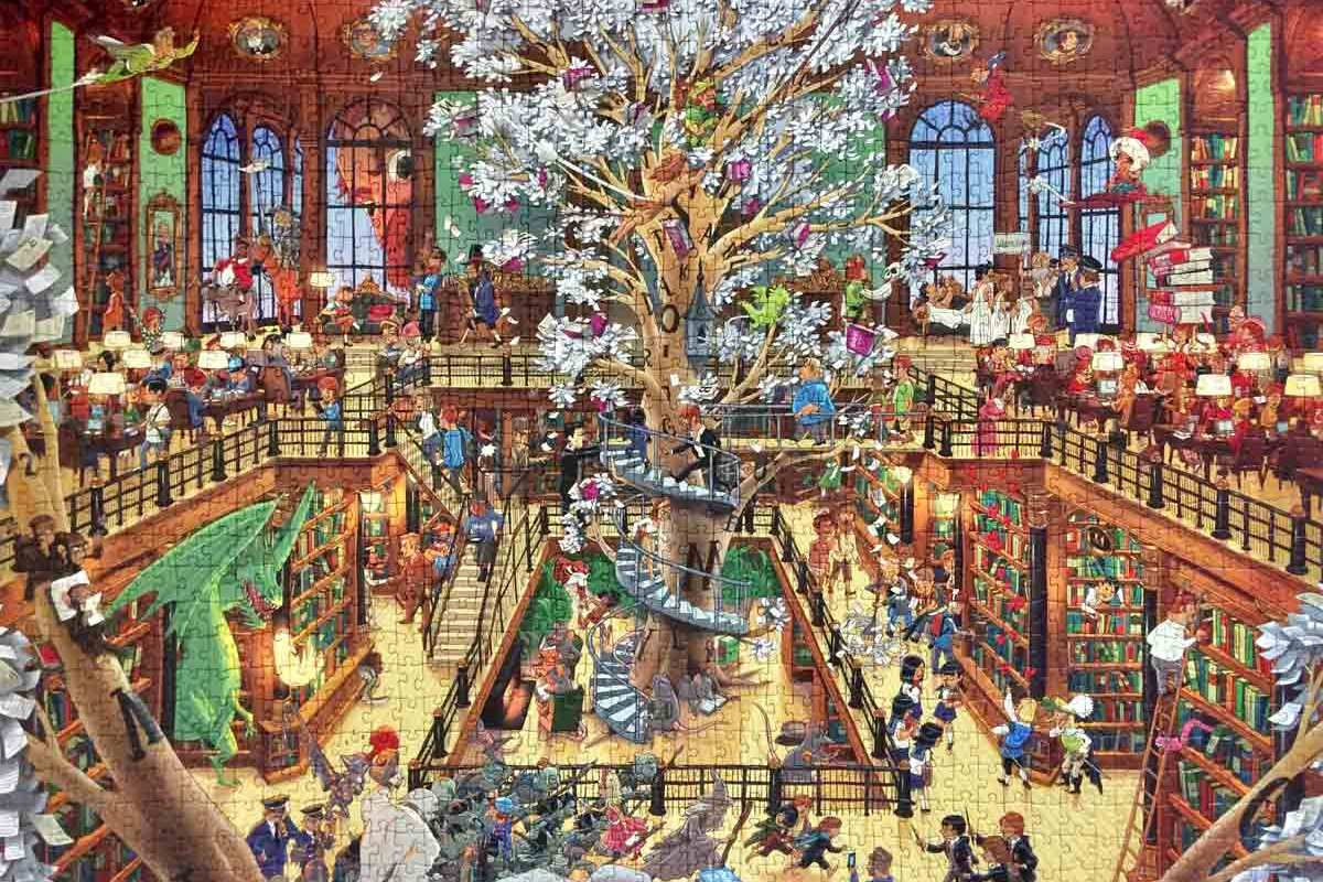Library Oesterle - Heye puzzle