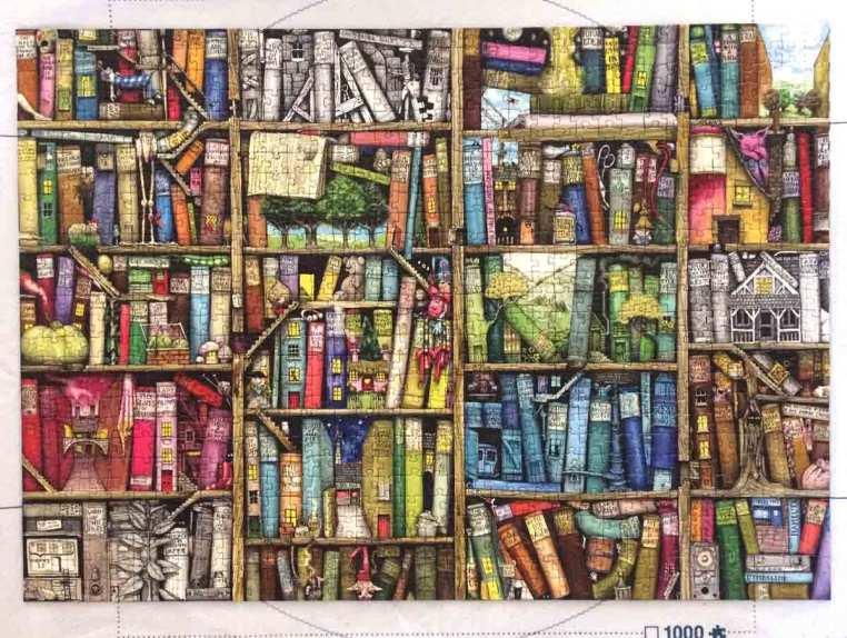 Rafturi funny - Ravensburger puzzle - books, books, books - 1000 piese