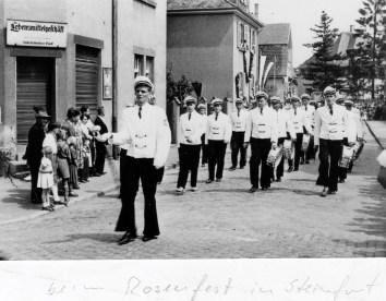 Alte Zeiten -KJV beim Rosenfest in Steinfurt 1959 (2)