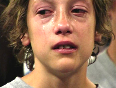 Crying kid from jesus camp