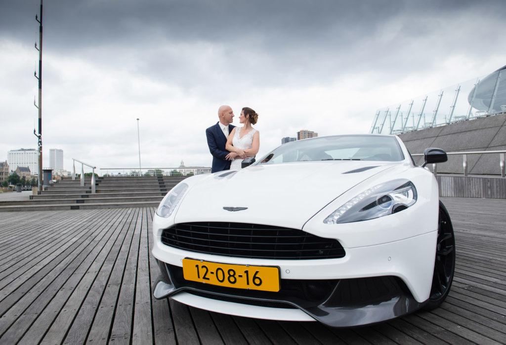 Foto tijdens een bruidsreportage in Rotterdam door Kirstin Kraaijveld Fotografie