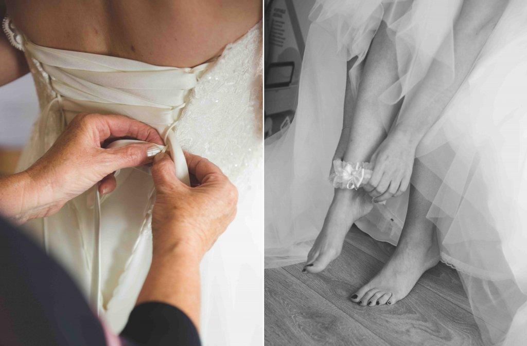 bruidsjurk aandoen