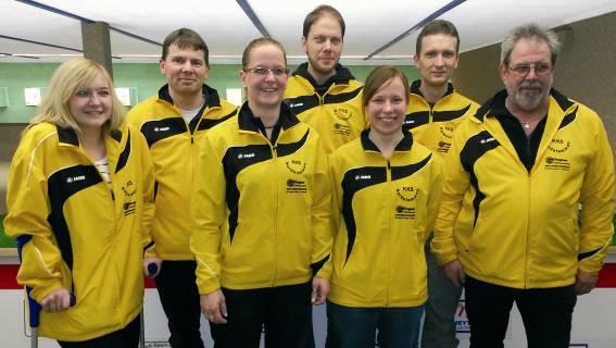 KKS Nordstemmen II (von links): Nadine Gudert, Michael Kronemann, Andrea Heitmann, Timo Stiehl, Anna Riechelmann, Carsten Feldhaus und Mannschaftsbetreuer Wolfgang Jamroz.