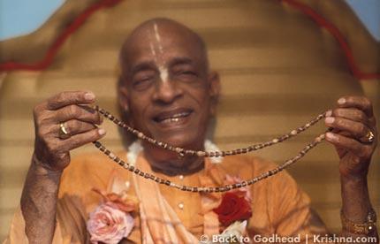 Prabhupada with Japa