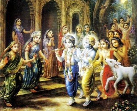 krsna in vrindavan