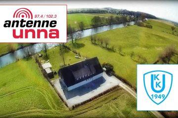Antenne Unna-Bericht zur Bootshaussanierung des Kanuklub Unna.