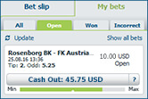 Bet at home cash out