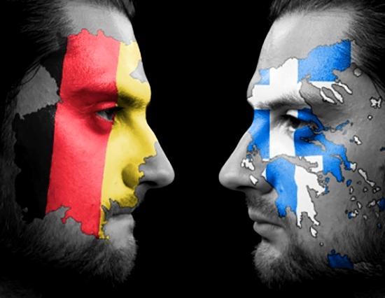 Greek-and-German-Flag