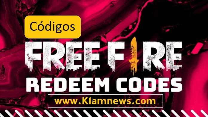 Códigos de free fire 16 Junio