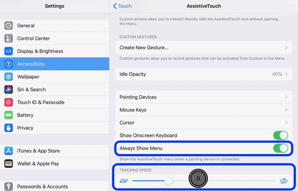 كيف تستخدم ماوس مع آيباد في iOS 13 12