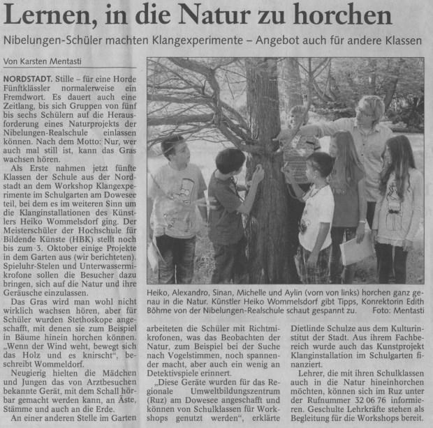 Braunschweiger Nachrichten 06.09.2011