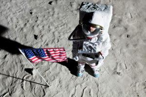 selfie on moon