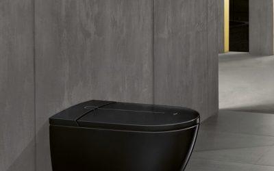 Ein Dusch-WC in tiefem Schwarz