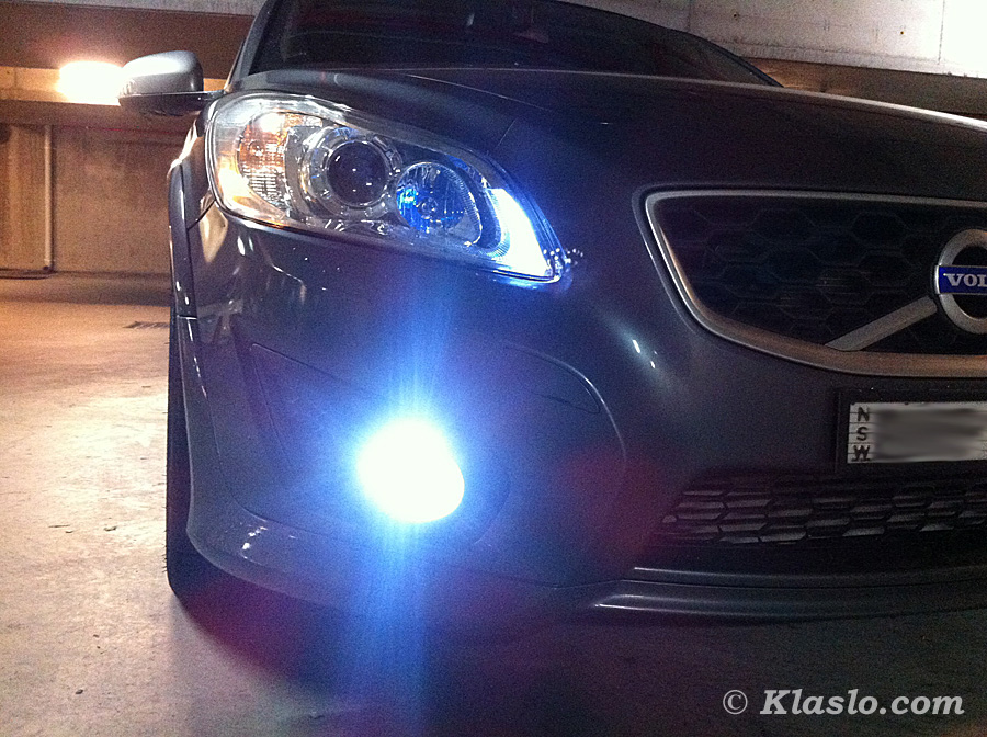 LED Fog Lights on Volvo C30 T5