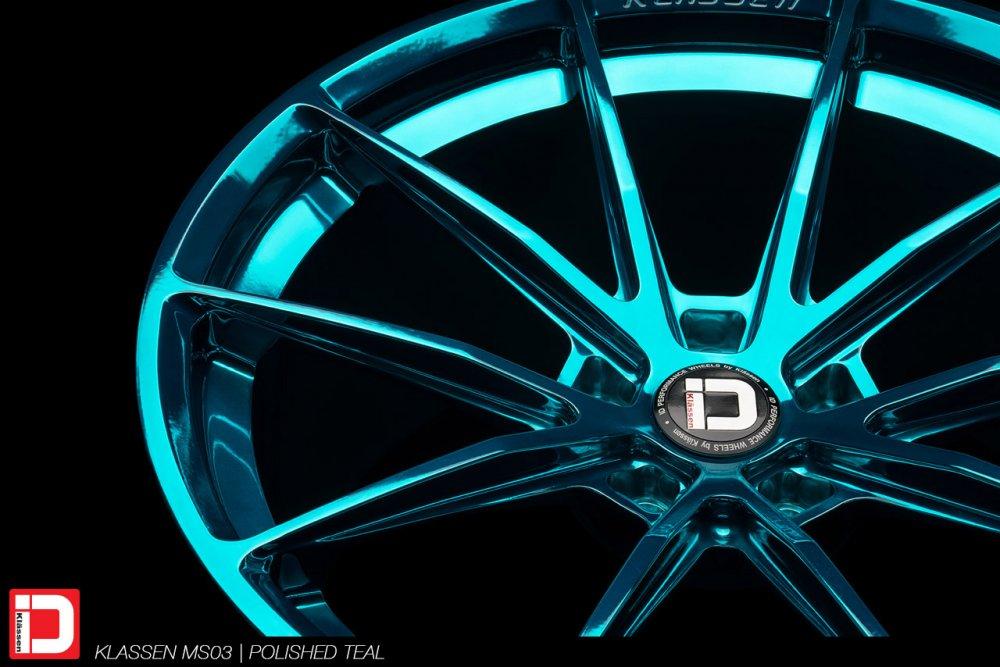 KlasseniD Wheels – MS03 Polished Turqouise