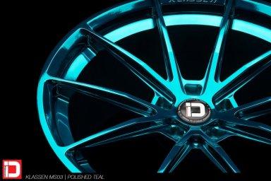 klassen klassenid wheels rims custom concave forged ms03 polished turquoise acura nsx supercar performance lightweight track