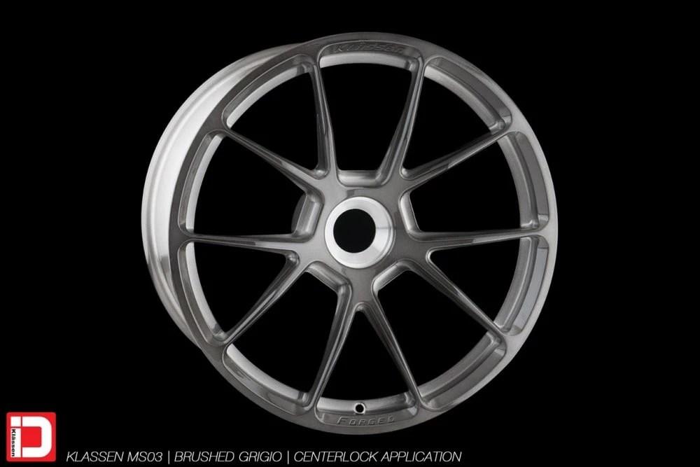 KlasseniD Wheels – MS03 Brushed Grigio Centerlock