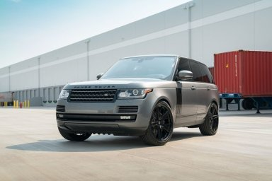 Range Rover HSE KlasseniD Wheels M53R Matte Black Face Gloss Black Windows 3