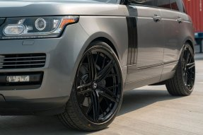 Range Rover HSE KlasseniD Wheels M53R Matte Black Face Gloss Black Windows 8