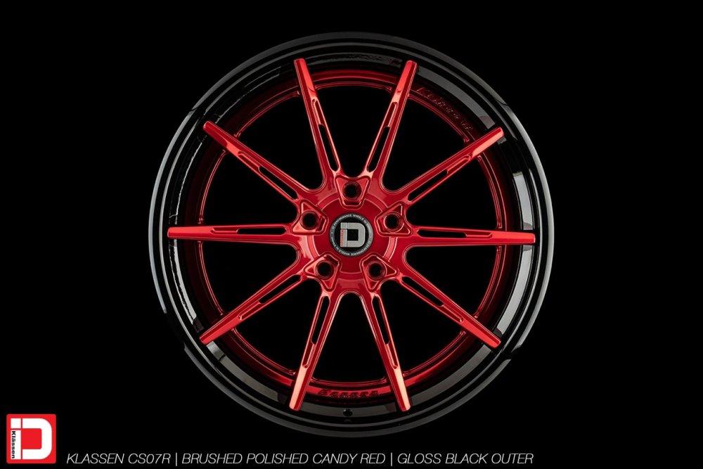 KlasseniD Wheels – CS07R Brushed Polished Candy Red