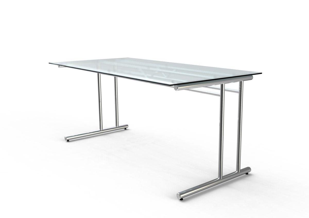 Schreibtisch Mit Glasplatte Bralco Jet Schreibtisch Mit