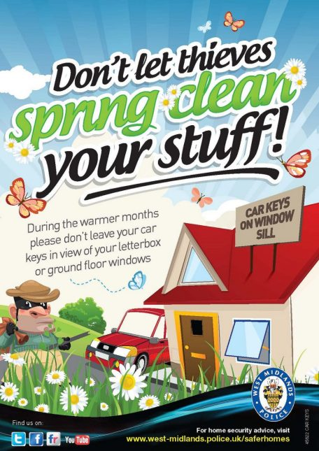 Keep Your Home Safe While You're Away- image: https://www.flickr.com/photos/westmidlandspolice/8616746388