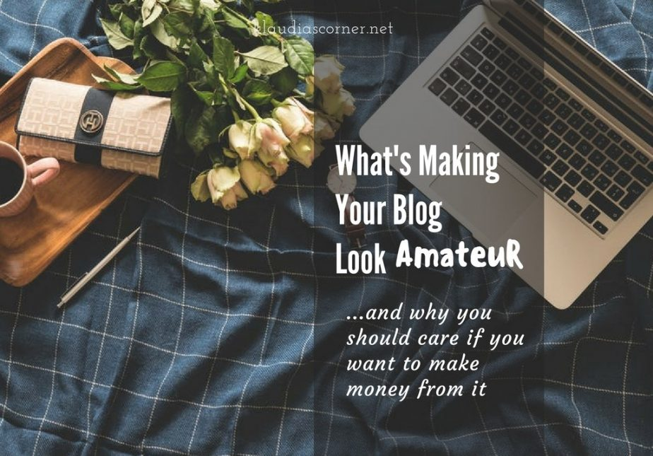 How To Blog And Make Money From It - What's Making Your Blog Look Amateur