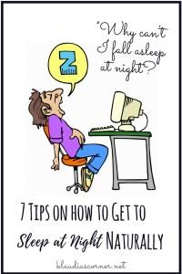 How to get to sleep at night naturally - ©klaudiascorner.net