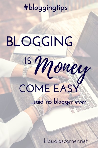 Blogging Is Money Come Easy  ...no blogger ever said!  Don't Forget the Behind-The-Scenes of your Blog!