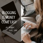 Blogging Is Money Come Easy – Behind The Scenes Of Blogging!