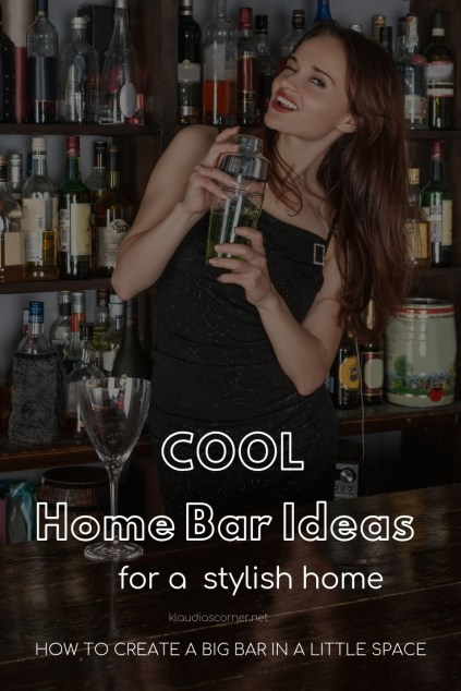 Home Bar Ideas For A Stylish Home - How to Create A Big Bar In A Little Space