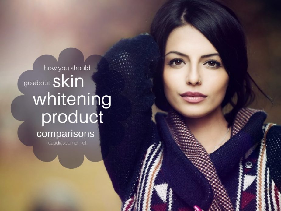 How You Should Go About Skin Whitening Products Comparisons