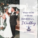 What To Do If You're Injured At a Wedding