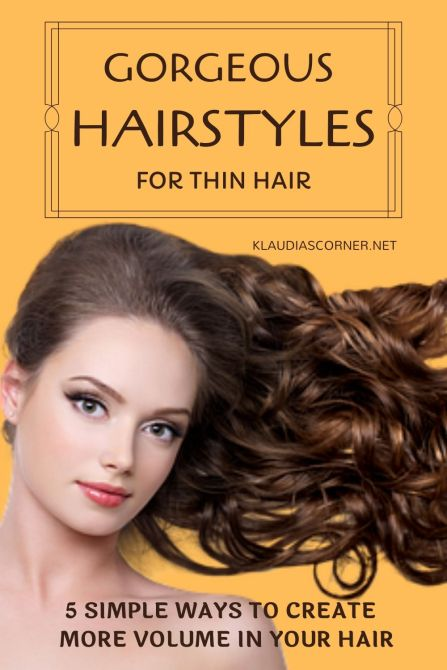 Gorgeous Hairstyles For Thin Hair - klaudiascorner.net