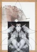 Klaus Killisch, micro conversation, 2011, ink, collage on paper, 70x50cm