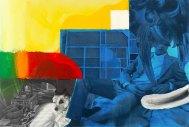 Klaus Killisch, my studio, 2006, acrylic paint, collage on canvas, 150 X 220 cm